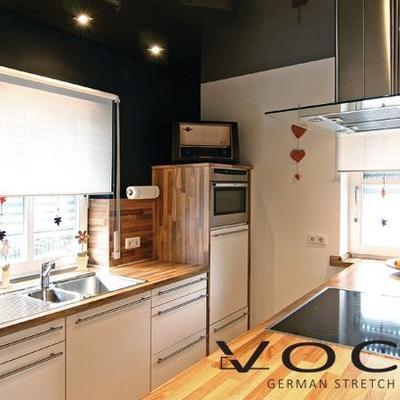 Spanndecke HG braun Küche